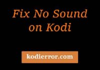 fix no sound on kodi